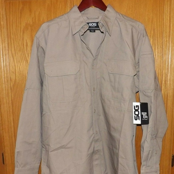SOG Tactical Take Point Short Sleeve Black Vented Military Shirt Men/'s Large NWT